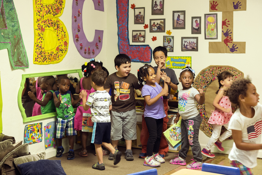 Child care center with many students