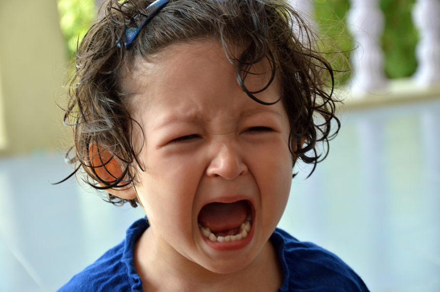 girl screaming and crying